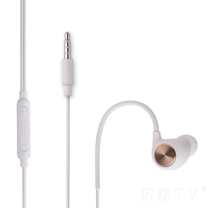 乐视白色运动耳机入耳式原装
