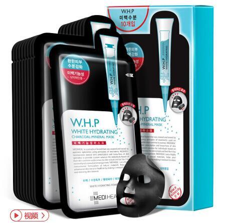 韩国Clinie可莱丝美迪惠尔WHP竹炭面膜10片
