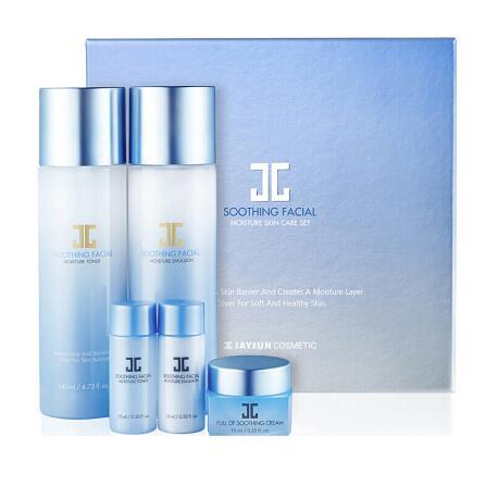 韩国JAYJUN水光蓝色水漾舒缓水乳套盒