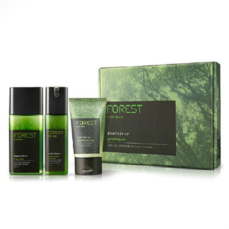 韩国innisfree悦诗风吟森林男士套盒绿色