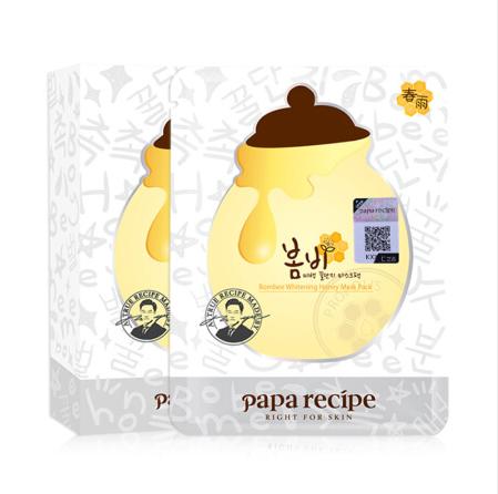 韩国papa recipe春雨美白面膜10片/盒