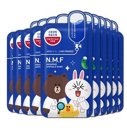 韩国Clinie可莱丝美迪惠尔卡通动物蓝色面膜10片