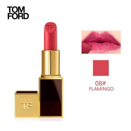 美国TF 黑管口红唇膏08#flamingo